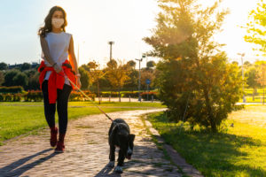 Social distancing while out with pet